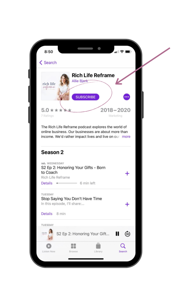 Rich Life Reframe Podcast